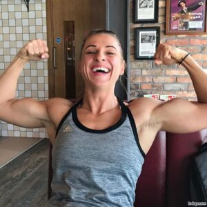 hot babe with muscle body and muscle biceps picture from tumblr