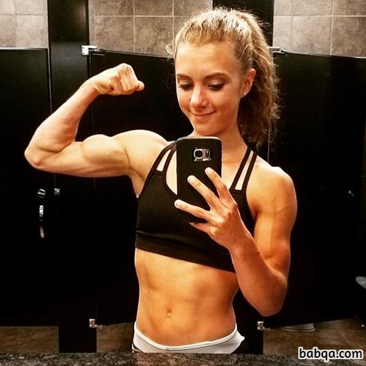 awesome woman with muscular body and toned arms picture from linkedin