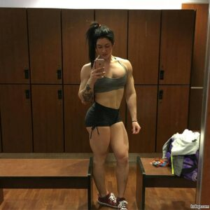 awesome female with muscle body and muscle legs pic from tumblr