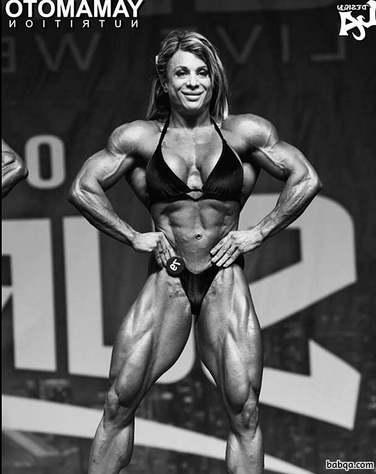 hot female with muscular body and toned arms repost from reddit