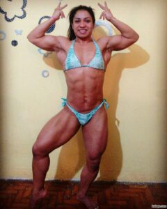 perfect lady with muscle body and toned biceps photo from facebook