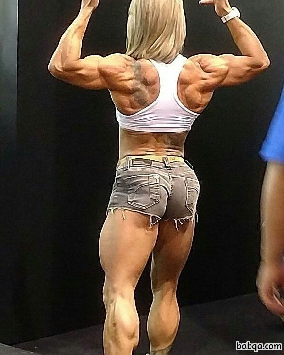 awesome lady with muscle body and muscle legs picture from facebook