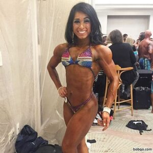 cute female with strong body and toned biceps post from facebook