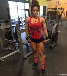 awesome chick with muscular body and muscle arms picture from g+