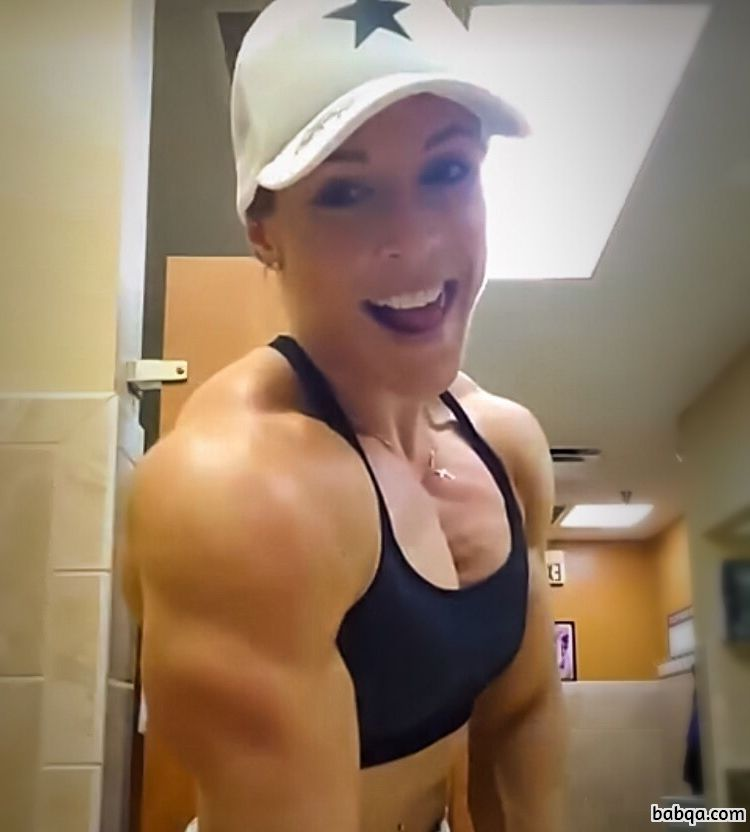 perfect female bodybuilder with fitness body and toned booty pic from g+