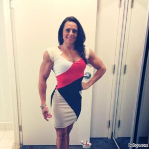 spicy lady with fitness body and muscle arms image from reddit