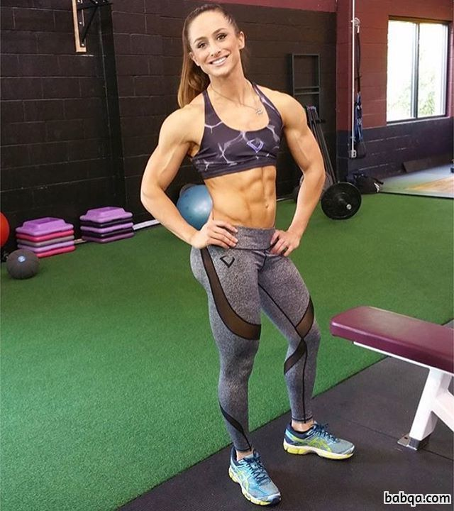 cute chick with strong body and muscle arms pic from tumblr