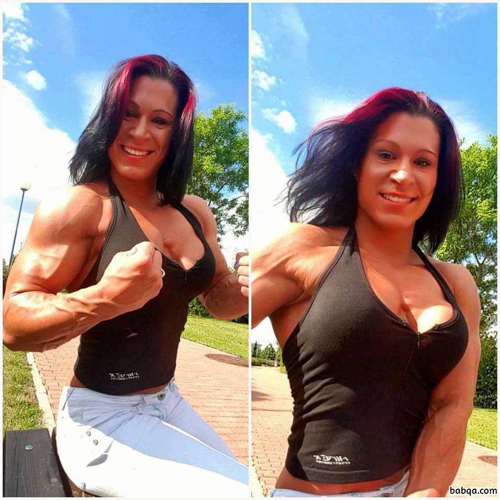 awesome female bodybuilder with fitness body and toned ass photo from flickr