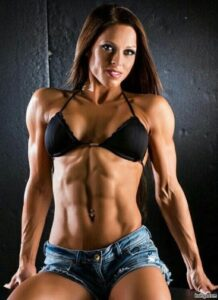 awesome babe with muscular body and toned biceps repost from g+