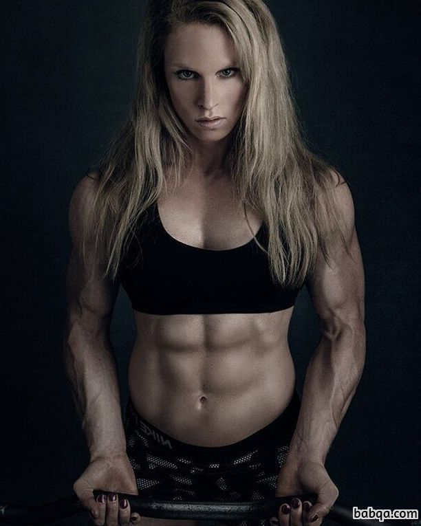 hot female with fitness body and toned biceps picture from facebook