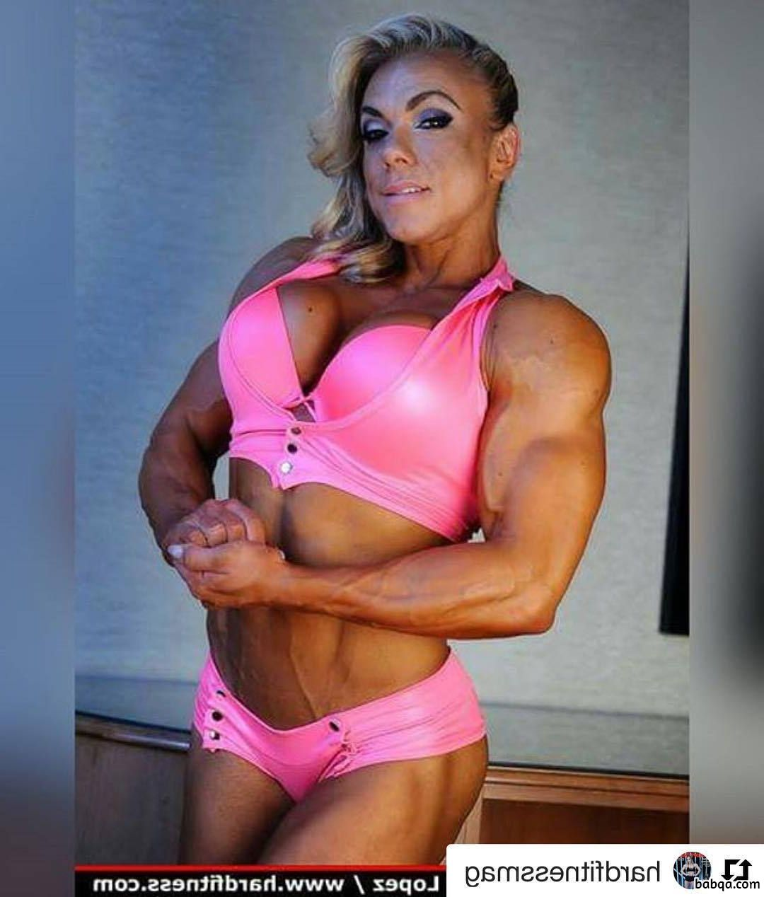 perfect woman with fitness body and muscle bottom picture from linkedin
