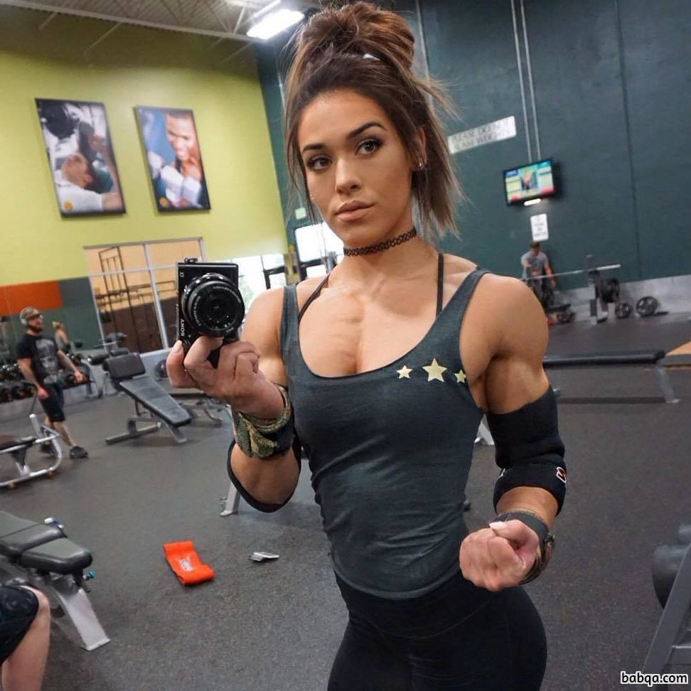 cute girl with strong body and muscle arms post from flickr