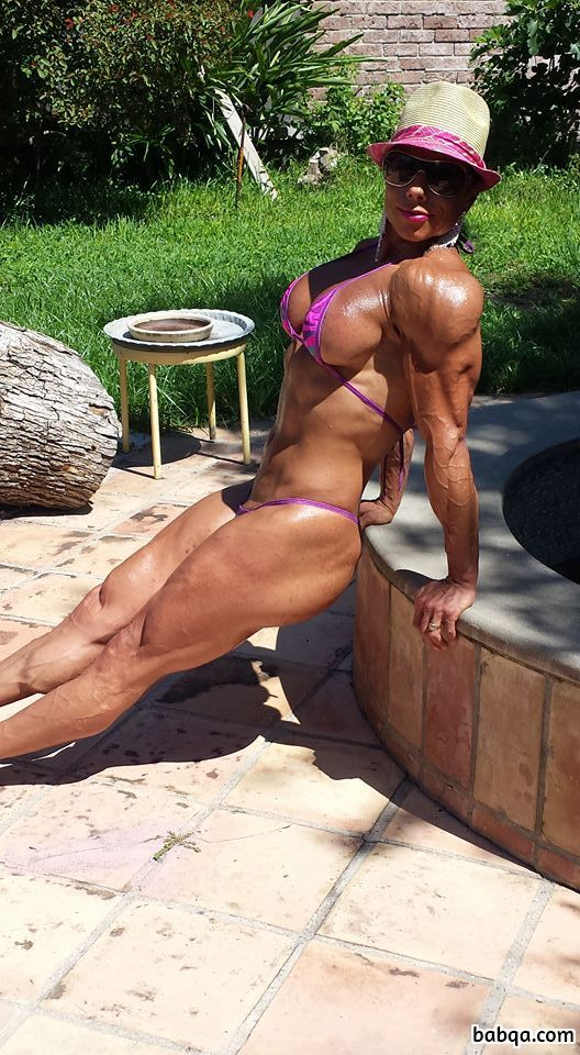 hottest female bodybuilder with fitness body and toned ass picture from g+