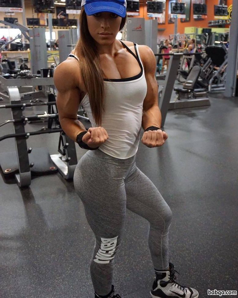 hot babe with strong body and muscle ass repost from reddit