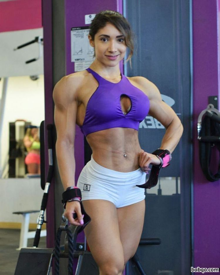 beautiful female with muscle body and toned arms photo from facebook
