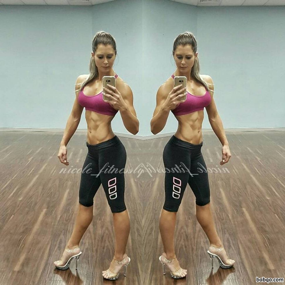 hottest babe with fitness body and muscle biceps repost from linkedin