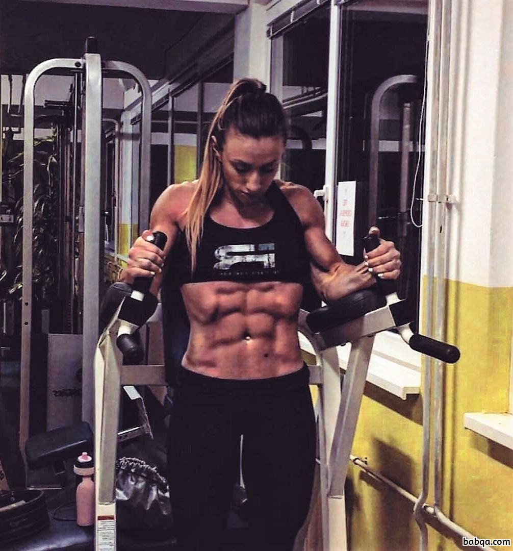 hottest female bodybuilder with muscular body and toned ass picture from g+