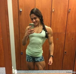 cute lady with strong body and muscle bottom image from insta