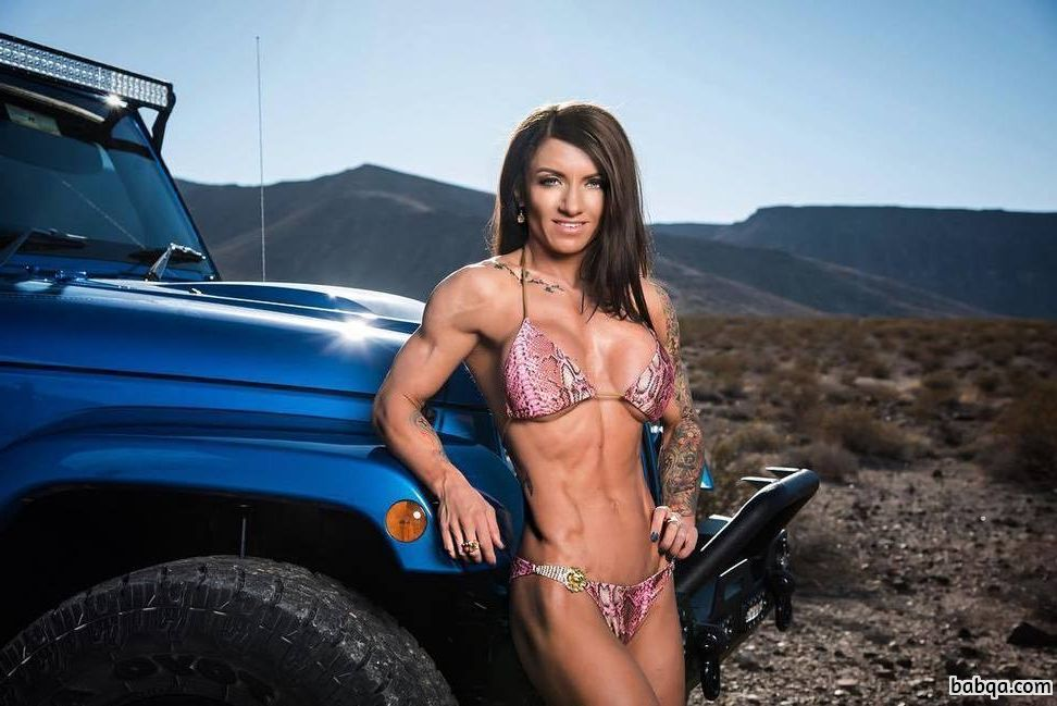 sexy woman with strong body and toned legs repost from g+