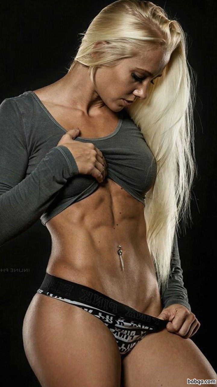 sexy woman with strong body and muscle ass repost from g+