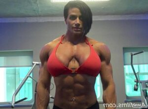 hot female bodybuilder with muscle body and muscle bottom picture from instagram