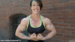 hottest female with fitness body and muscle arms image from flickr