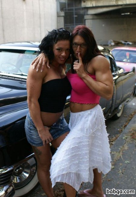 spicy female bodybuilder with fitness body and muscle arms image from facebook
