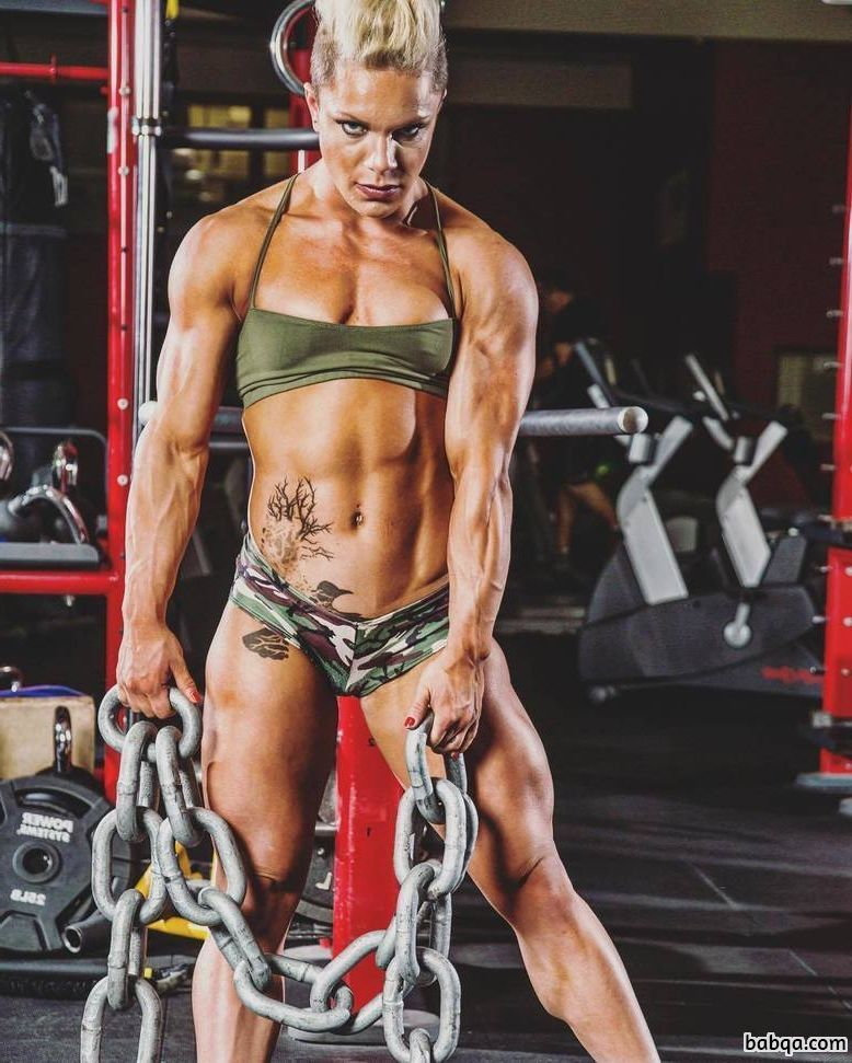 hottest female with strong body and muscle legs post from insta