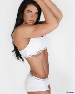 perfect female bodybuilder with muscular body and toned bottom photo from linkedin