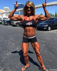 spicy female bodybuilder with strong body and toned legs photo from linkedin