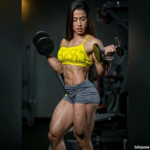 cute female bodybuilder with muscular body and muscle arms repost from facebook