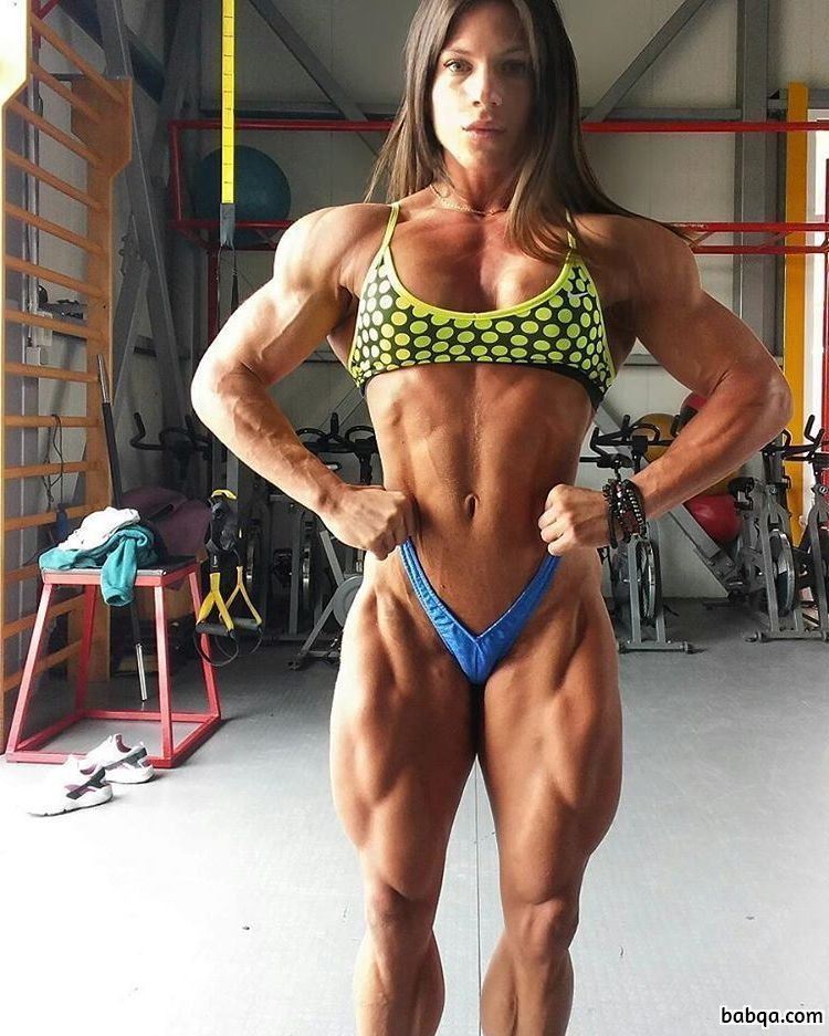 awesome lady with muscular body and muscle booty pic from reddit