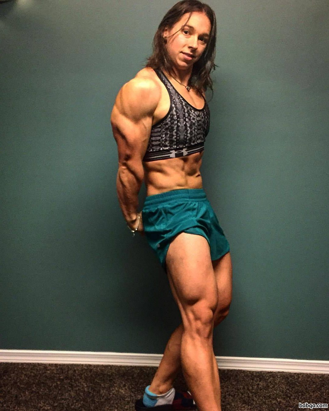 hot girl with muscle body and muscle legs repost from facebook