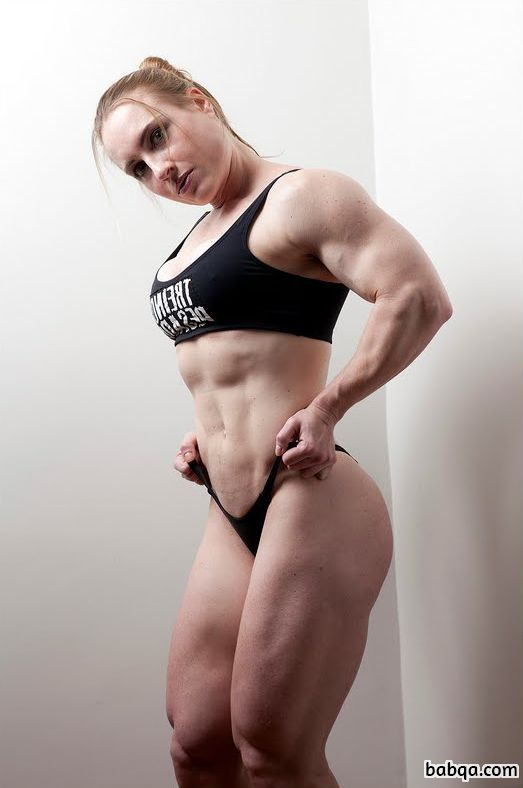 beautiful female with strong body and muscle bottom pic from facebook