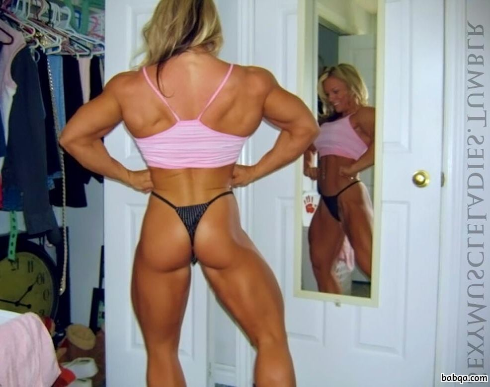 spicy female bodybuilder with muscle body and toned biceps post from facebook
