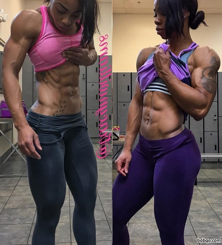 sexy chick with muscular body and muscle arms image from tumblr