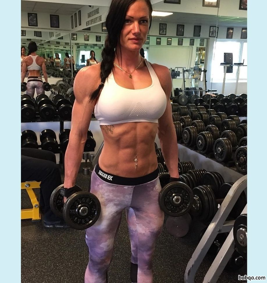 spicy female with muscle body and toned booty image from g+