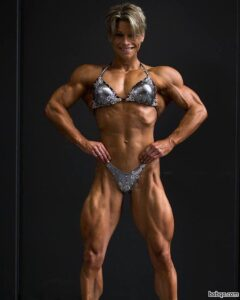 awesome female with strong body and muscle arms repost from flickr