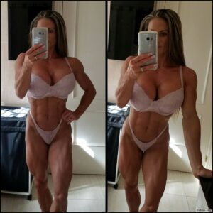 cute female with fitness body and toned arms photo from reddit