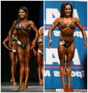 awesome female with strong body and toned arms repost from g+