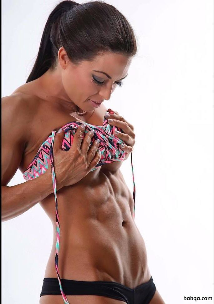 beautiful lady with fitness body and muscle legs repost from tumblr