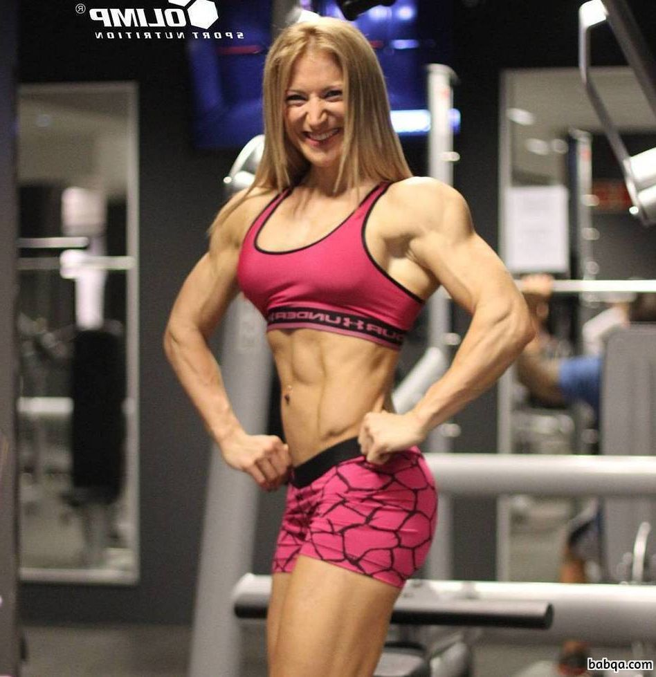 perfect chick with muscular body and muscle legs repost from flickr