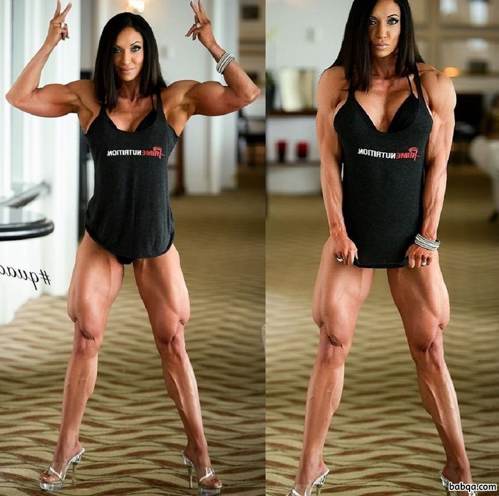cute girl with muscular body and muscle arms post from tumblr