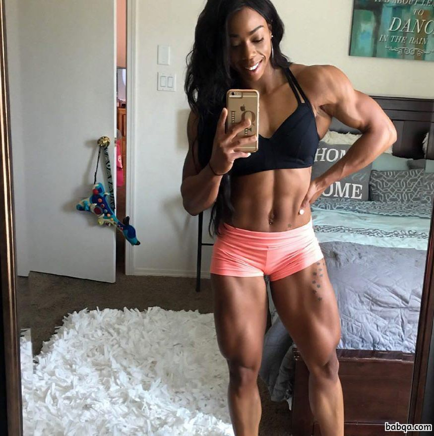 beautiful lady with strong body and toned arms repost from tumblr