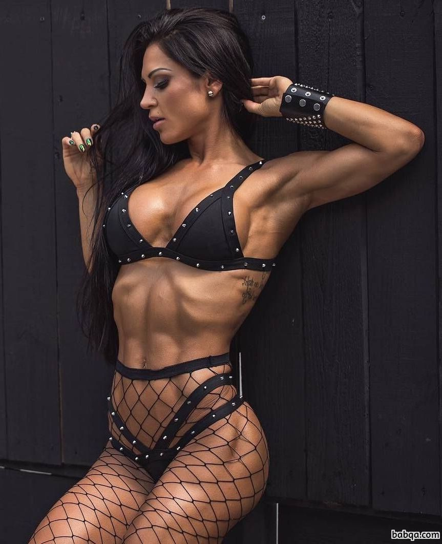 hottest woman with fitness body and toned biceps image from linkedin