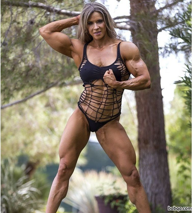 awesome female with strong body and toned biceps picture from facebook
