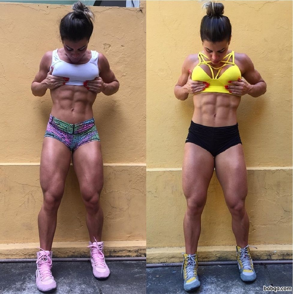 beautiful woman with strong body and toned bottom pic from g+