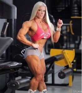 beautiful female with muscle body and muscle legs photo from facebook