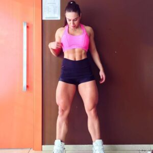 sexy lady with strong body and muscle arms photo from insta