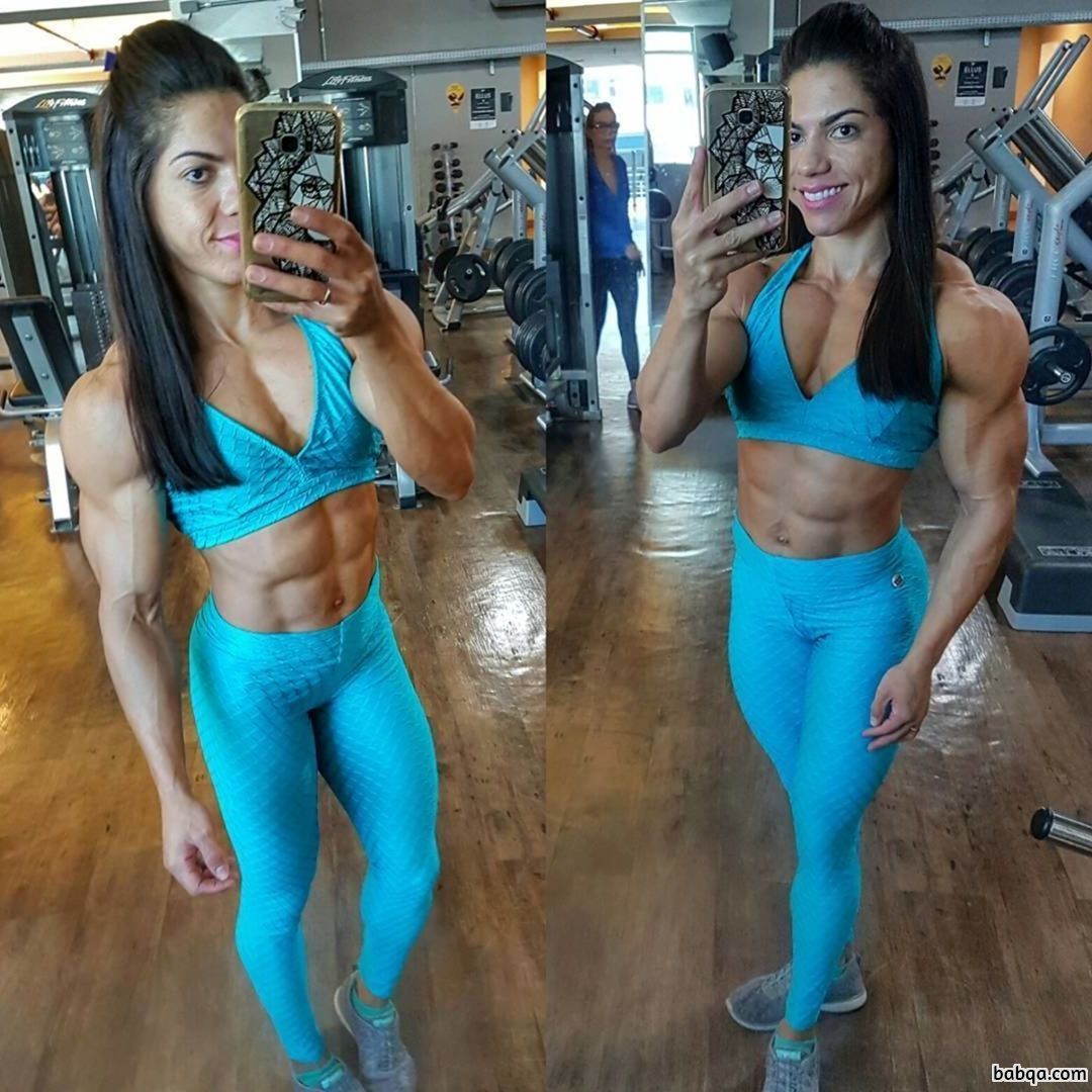 perfect female bodybuilder with muscular body and muscle ass repost from g+